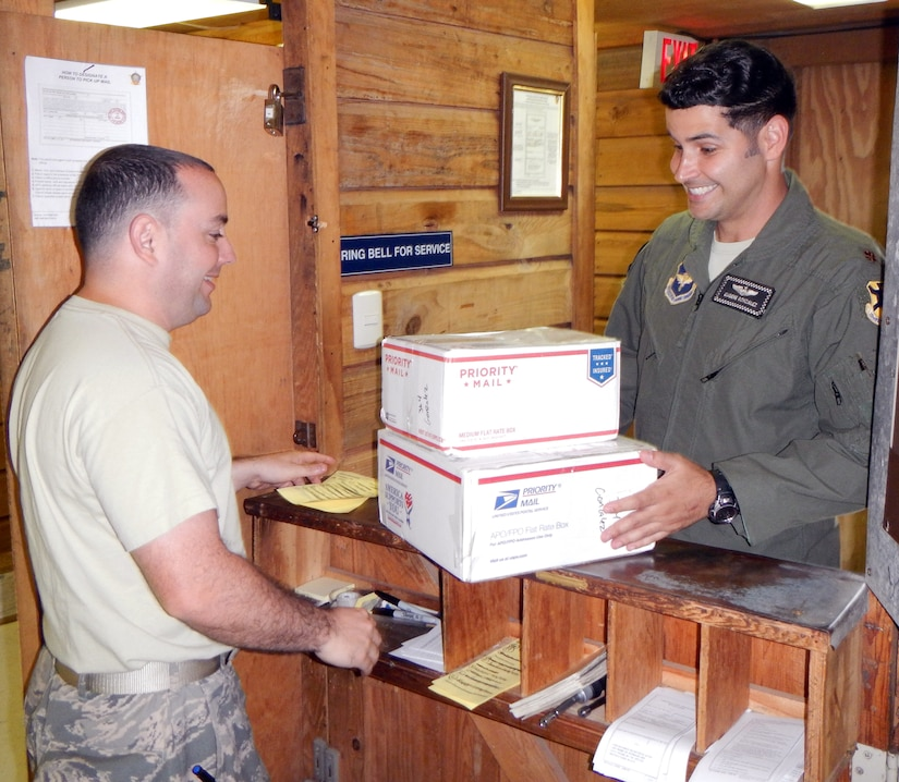 The Joint Task Force-Bravo post office was successful in operating through the holiday mail rush this year.  During the holiday season, the post office processed more than 2,100 pieces of mail, a number that more than doubles the mail processed during a typical month.  During the holiday season, workers at the post office received 1,758 incoming pieces of mail while sending out 398 pieces.  (U.S. Air Force photo by Tech. Sgt. Stacy Rogers)