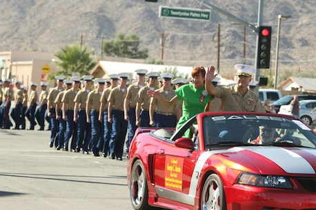 Command personnel regularly represent the Combat Center at community events like the annual Pioneer Days Parade in Twentynine Palms.