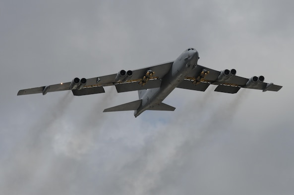 Tinker Air Force Base maintainers at the Oklahoma City Air Logistics Complex will work with Boeing to perform an upgrade to the B-52, which will increase it's smart-weapon capabilities. (U.S. Air Force photo/Senior Airman Carlin Leslie)