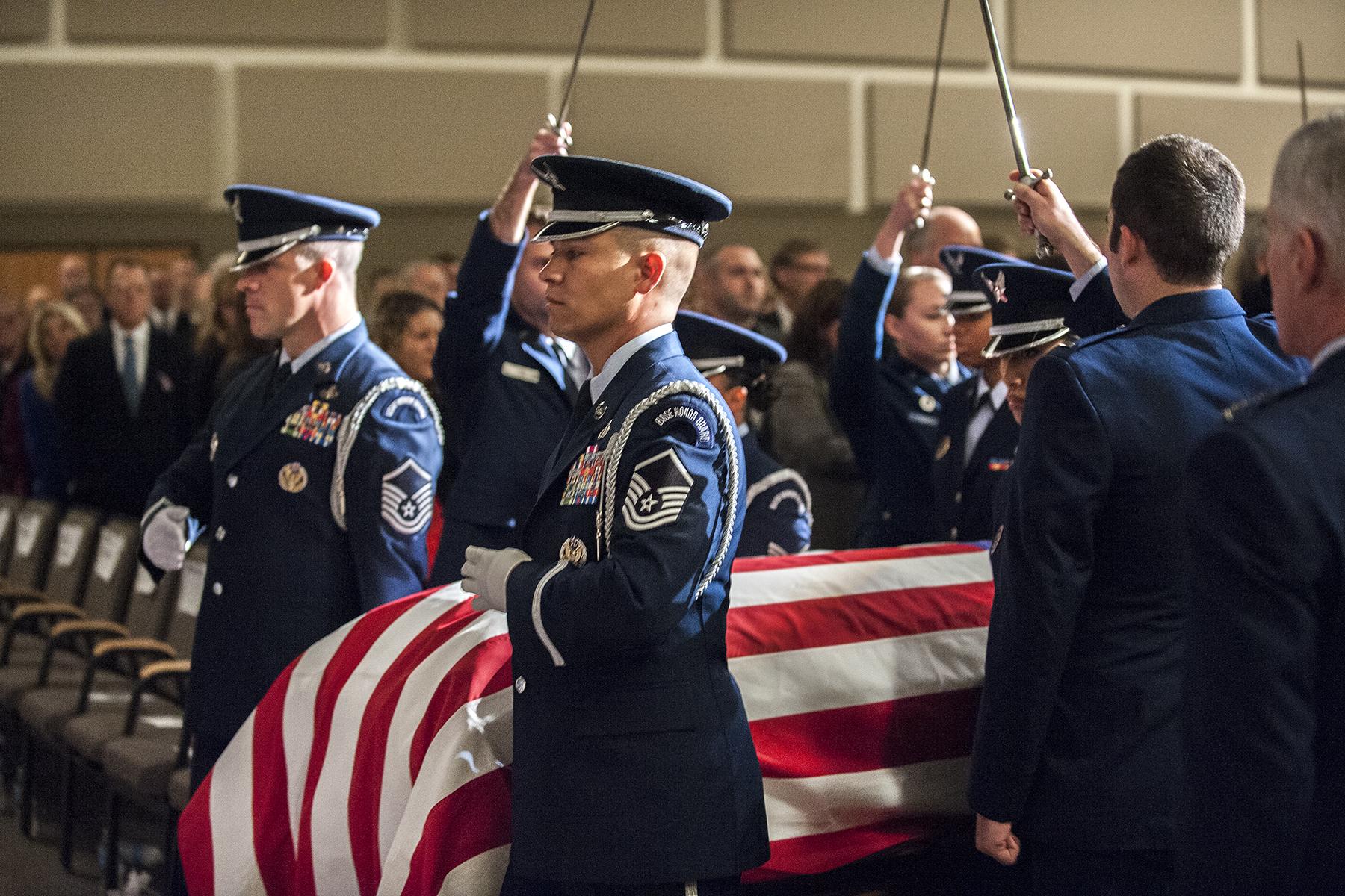 Colorado Springs Escorts >> High Frontier Honor Guard During Capt Lyon Funeral