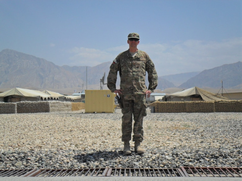 Maj. Doug Kaupa, a 1995 U.S. Air Force Academy graduate and astronautics instructor, deployed to Afghanistan in 2013. While there, he distributed star charts and space images to 250 Afghan children through Discover the Universe, a program educating them on the planets, stars and constellations that dress the night sky. (Courtesy photo/Maj.Doug Kaupa)