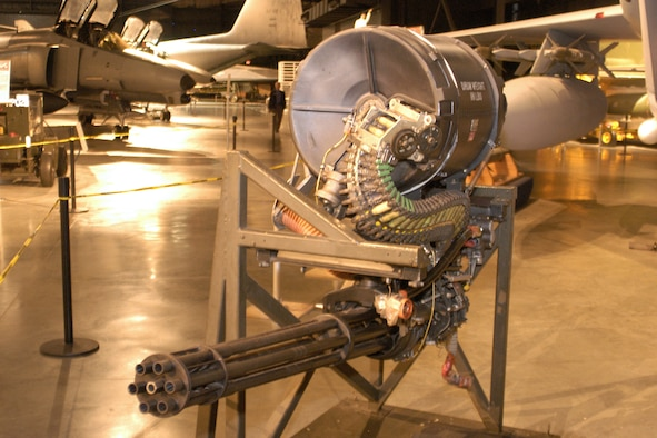DAYTON, Ohio -- M61A1 20mm Vlucan Cannon at the National Museum of the United States Air Force. (U.S. Air Force photo)