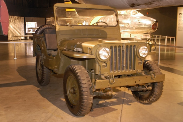 DAYTON, Ohio - Willys Quarter-ton Jeep on display in the Cold War Gallery at the National Museum of the U.S. Air Force. (U.S. Air Force photo)