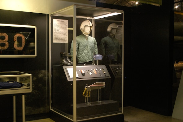 """DAYTON, Ohio - Items from the loss of B-52G """"BRASS 02"""" on display in the Southeast Asia War Gallery at the National Museum of the U.S. Air Force. (U.S. Air Force photo)"""