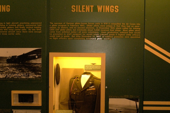 DAYTON, Ohio -- Silent Wings exhibit in the World War II Gallery at the National Museum of the U.S. Air Force. (U.S. Air Force photo)