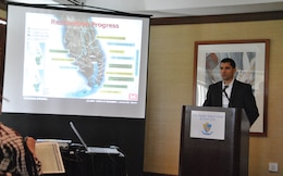"Restoration progress was discussed by U.S. Army Corps of Engineers Jacksonville District Ecosystem Branch Chief Howard Gonzales, Jr. at the Jan. 11 breakout session entitled, ""From Restoration Visions to Ribbon cutting."""