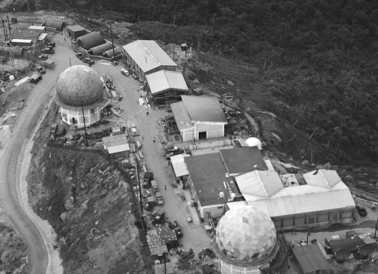 "The Air Force had two ground-based signals intelligence intercept sites at Danang, South Vietnam -- one at the air base and another, pictured here, on nearby ""Monkey Mountain."" (U.S. Air Force photo)"