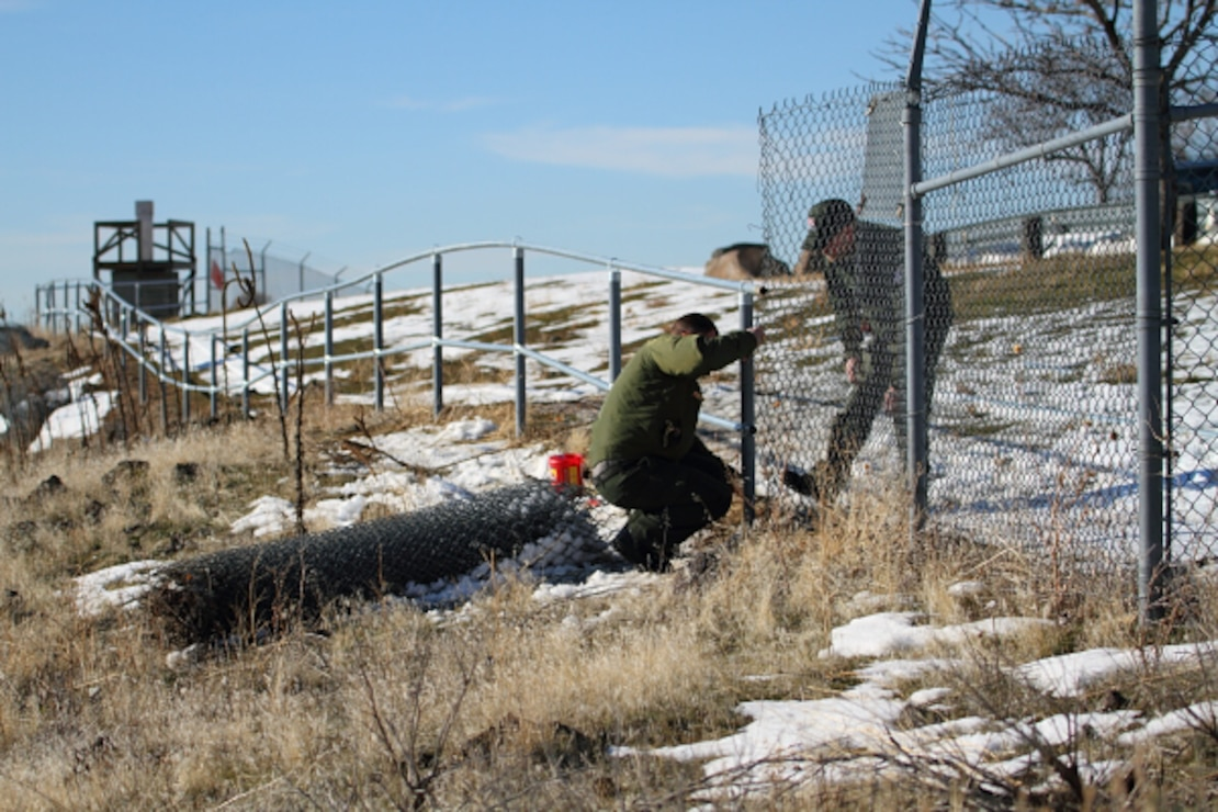Lucky Peak Park Ranger staff are continuously engaged in park maintenance and enhancement projects, such as converting an old chain-link fence to a less obstructive rail fence at Viewpoint.