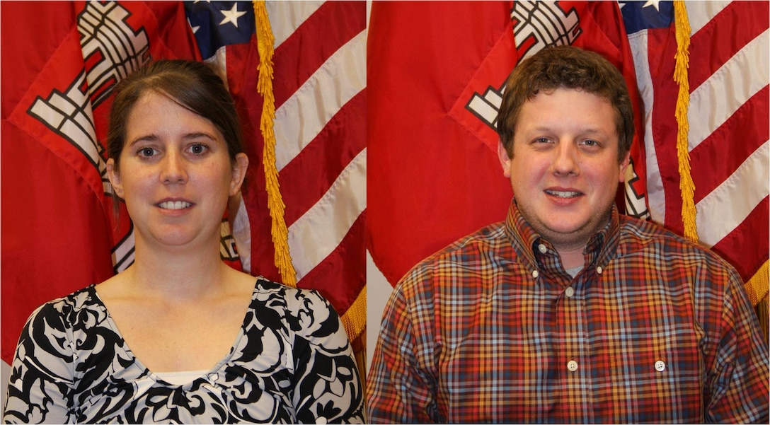Heather Sibley and Taylor Bradley of the U. S. Army Corps of Engineers Vicksburg District (Corps) recently obtained their Professional Civil Engineer license. Only a licensed engineer may prepare, sign, seal and submit engineering plans and drawings to a public authority for approval.