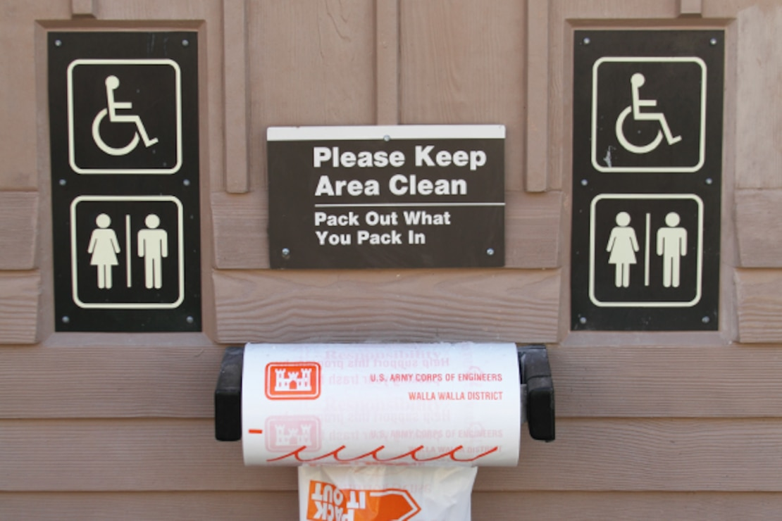 Lucky Peak Lake is a Pack-It-In, Pack-It-Out area.  Litter bags are available at restroom locations around the lake.
