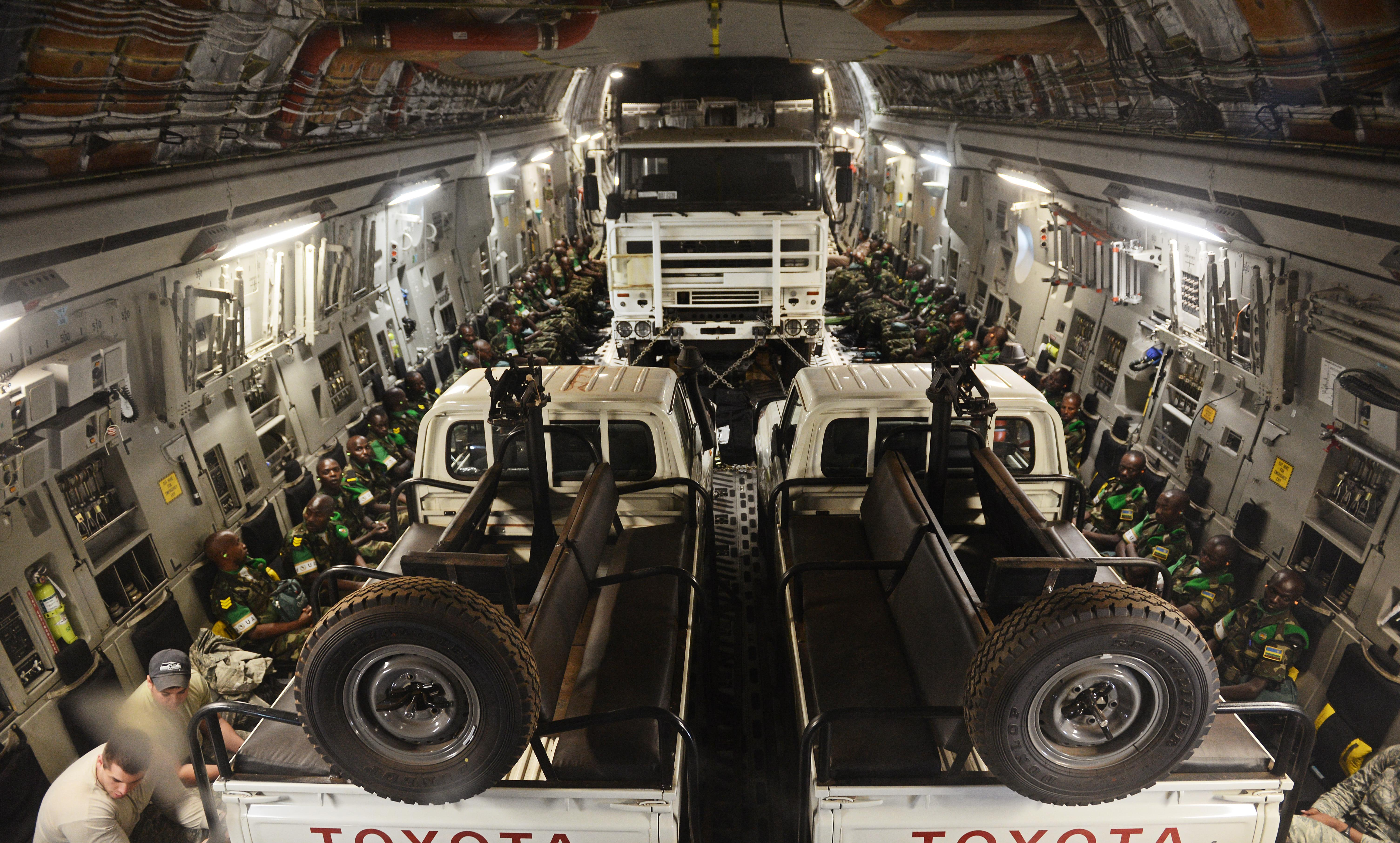 AF continues to airlift Rwandan units to Central African Republic
