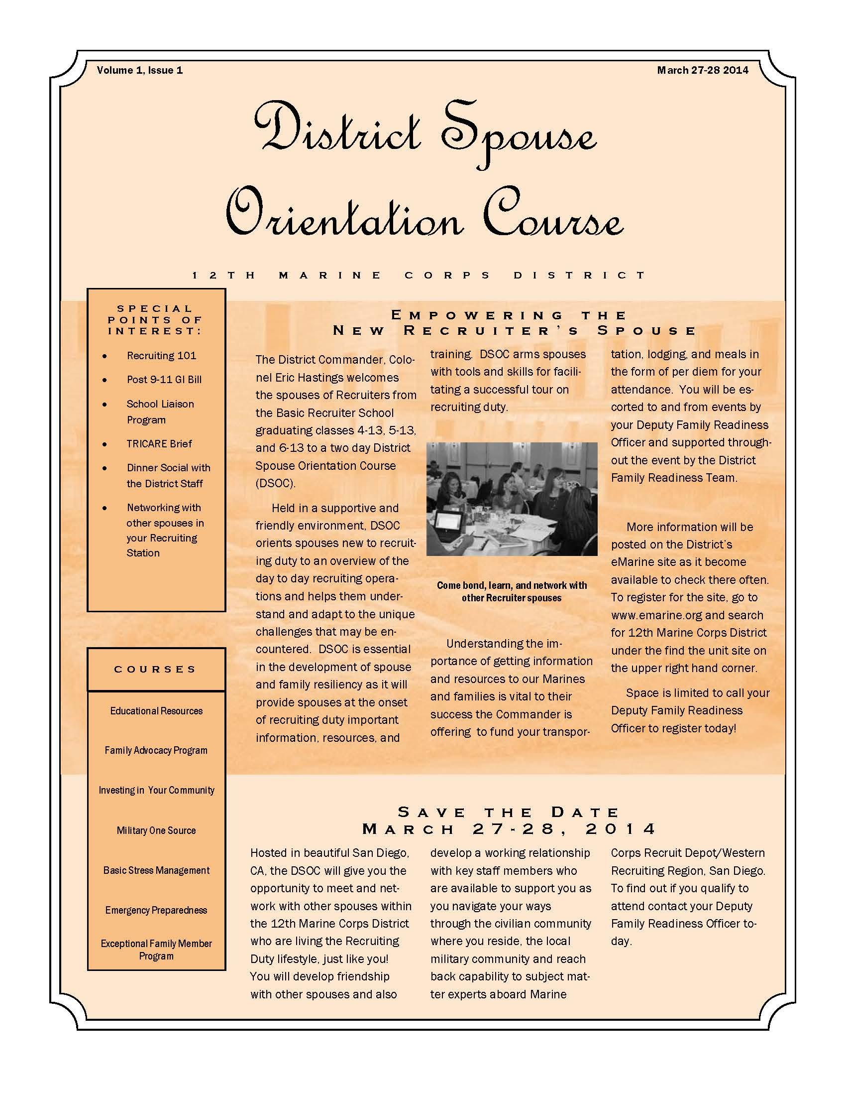 District Spouse Orientation Course