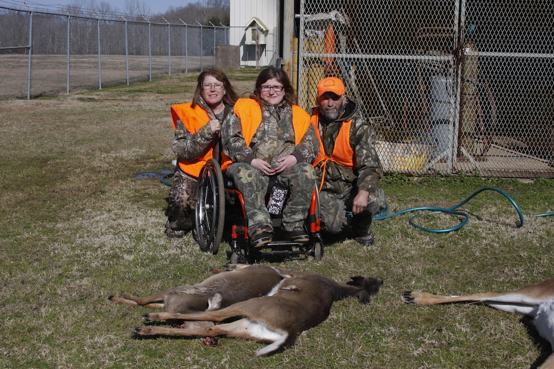 The U.S. Army Corps of Engineers Louisiana Field Office hosted its ninth annual physically challenged deer hunt at the Columbia Lock and Dam. The hunt was held Saturday 18 January 2014. Eight disabled hunters were randomly selected to hunt on approximately 400 acres adjacent to the lock and dam area located at 580 Lock Office Road, Columbia, Louisiana.