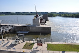 Lock and Dam #11, Upper Mississippi River, bordering northern edge of Dubuque, Iowa.