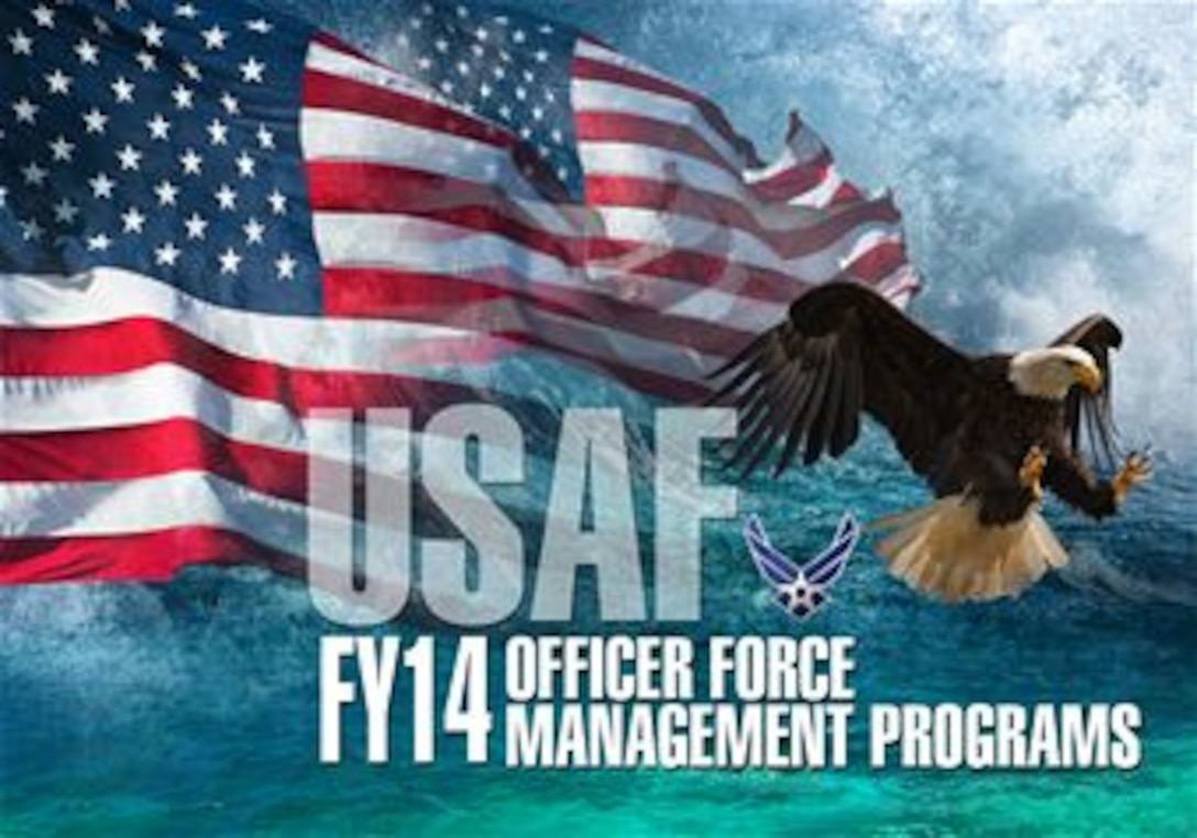 Fiscal Year 2014 commissioned personnel force management programs. (U.S. Air Force graphic by Naoko Shimoji)