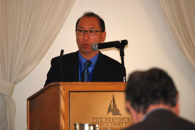 """Mo Chang, chief of the Los Angeles District Navigation Section, discussed a value engineering study and its recommendations to improve project functionality and cost effectiveness. Opportunities exist to mitigate the impacts that decreased funding has on dredging schedules and the quantities of material removed. """"These can be implemented without changes in the day to day operations,"""" Chang said."""