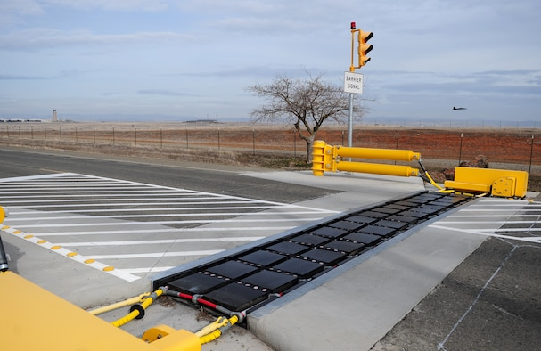Active vehicle barriers provide security gt beale air force