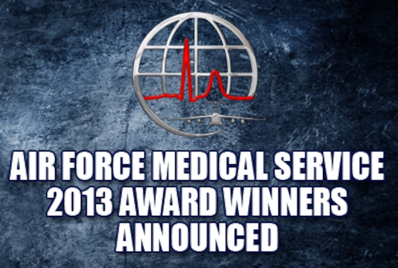 Air Force Medical Service 2013 award winners announced on Jan. 31, 2014. (U.S. Air Force graphic)