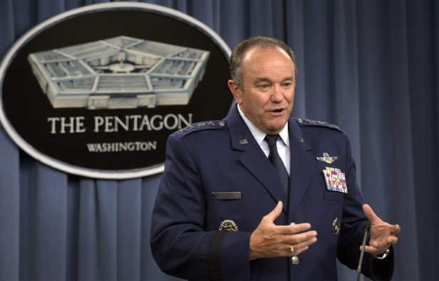Gen. Philip M. Breedlove provides a U.S. European Command update during a news conference June 30, 2014, at the Pentagon. Breedlove is NATO's supreme allied commander for Europe and the commander of EUCOM. (Courtesy photo/Glenn Fawcett)