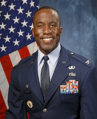 Col. Stacey Hawkins, 10th Air Base Wing commander. (U.S. Air Force photo)