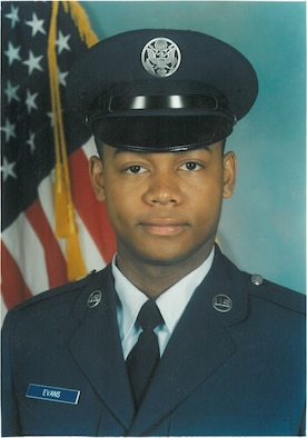 Chief Master Sgt. Alfonzo Evans' first official photo in Air Force basic training. (Courtesy photo)