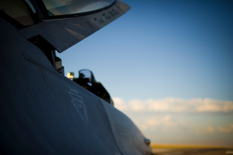 A QF-16 is prepared for takeoff during an unmanned live fire exercise at Holloman Air Force Base, N.M., June 25. A QF-16 took part in an operational live fire exercise as part of the aircrafts test flight program before the beginning of production at the Boeing facility in Cecil Field, Jacksonville, Fla. in late 2014. (U.S. Air Force photo by Airman 1st Class Aaron Montoya / Released)