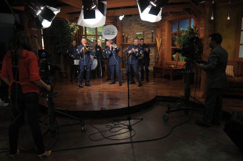 The Tailgaters with the Air National Guard Band of the West Coast perform at the Park City Television Station in Park City, Utah on July 1, 2014. (U.S Air National Guard photo by Airman 1st Class Madeleine Richards/Released)
