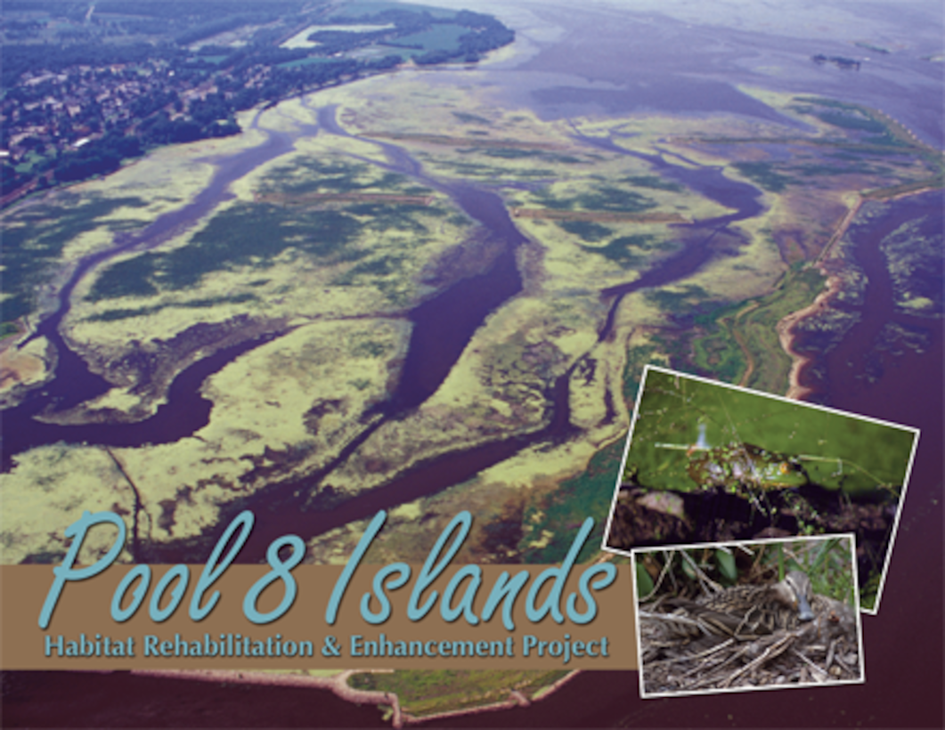 The project included constructing islands and dredging to increase water depths. It improved conditions for more than 45 fish species. The island protects the area from waves and current which increases light penetration in the water, allowing plants to grow for the benefit of fish and wildlife. The project also improved wintertime habitat for fish.