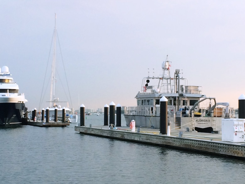 The Florida II in port, as it awaits another mission.