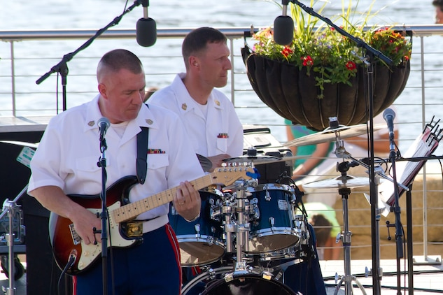 Guitarist Gunnery Sgt. Alan Prather will lead a Marine Jazz Combo in concert on the west steps of the U.S. Capitol at 8 p.m. July 9 & 10.(U.S. Marine Corps photo released/Gunnery Sgt. Amanda Simmons)