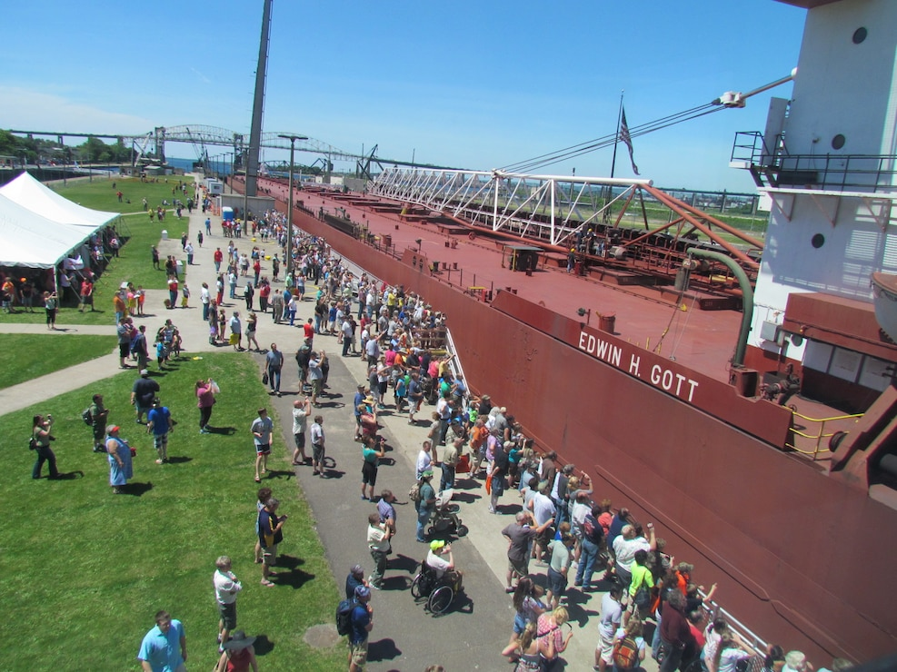 Many guests visited the Soo Locks during the Soo Locks Engineers Day June 27, always the last Friday in June, where the gates are open and the public is allowed to view the ships up-close. See photos by visiting us on Facebook: