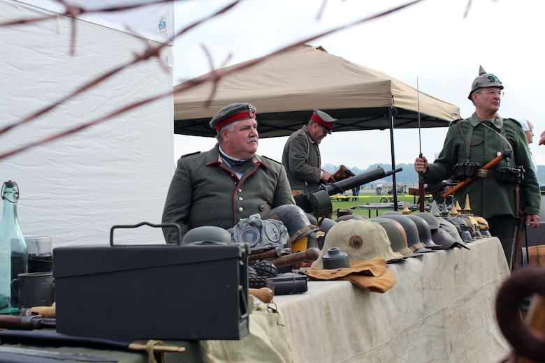 Several reenactors participated in the World War I Dawn Patrol Rendezvous in 2011 at the National Museum of the U.S. Air Force near Dayton, Ohio. This year's event is schedule to take place Sept. 27-28. (U.S. Air Force photo)