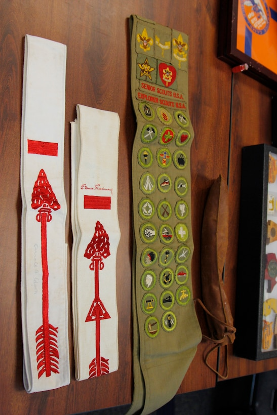 The Charleston District has nine Eagle Scouts in our approximately 250 employees. Each of these Eagle Scouts has a different story about their experience. Here are some sashes from Joe Moran's collection of memorabilia.