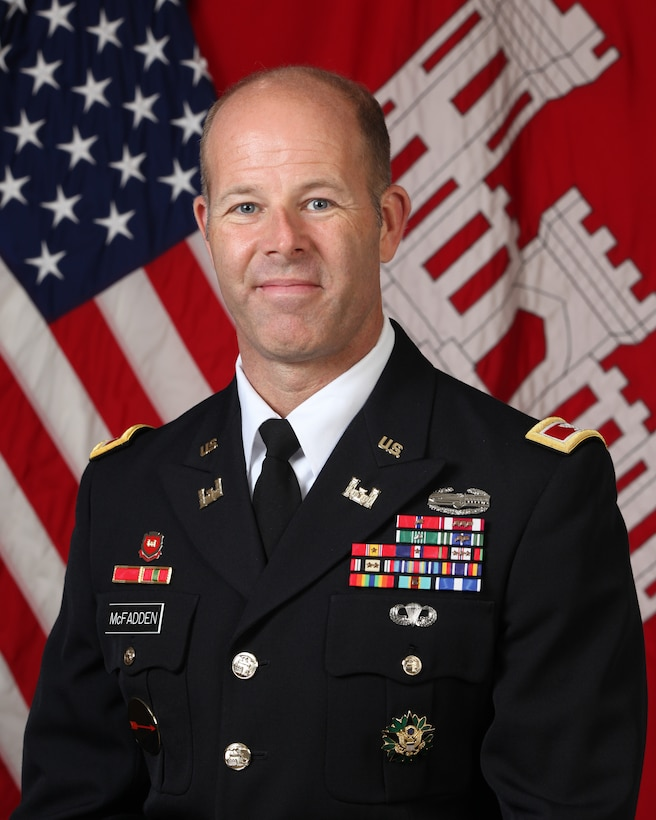COL Eric McFadden is the USACE South Pacific Division Deputy Commander.