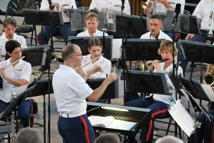 1st Lt. Ryan J. Nowlin will lead the Marine Band in a Summer Fare concert on the steps of the U.S. Capitol July 16 & 17 at 8 p.m. (U.S. Marine Corps photo by Master Sgt. Kristin Mergen/released)