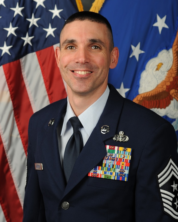 Chief Master Sgt. Shawn Drinkard, 509th Bomb Wing command chief