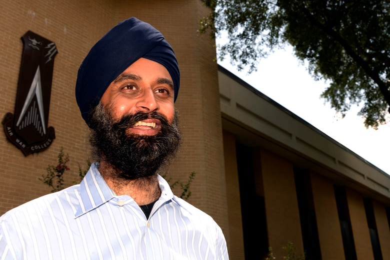 Naunihal Singh, professor of African Cultural Studies, Regional Culture studies at the Air University's Air War College. (U.S. Air Force Photo By Staff Sgt. Gregory Brook)