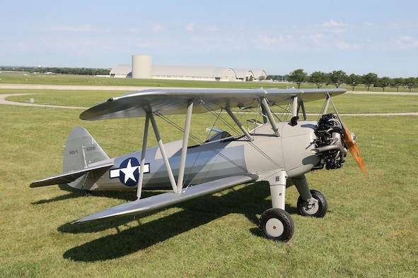 DAYTON, Ohio --The Stearman PT-13D Kaydet at the National Museum of the U.S. Air Force. Plans call for the aircraft to be part of an expanded Tuskegee Airman exhibit in the World War II Gallery at the National Museum of the U.S. Air Force. (U.S. Air Force photo by Don Popp)