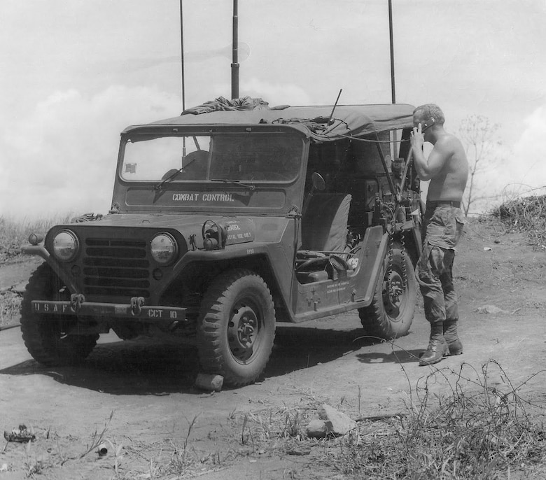 AN/MRC-108 being used by a Combat Control Team (CCT) in Southeast Asia (ca. 1971). (Photo courtesy of Combat Control Net)