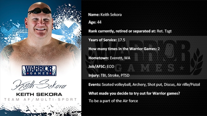 Warrior Games Profile : Keith Sekora