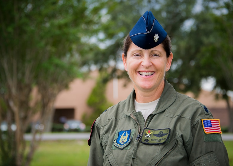 Lt. Col. Leslie Hadley, the 919th Special Operations Support Squadron commander, took part in honoring the Women Airforce Service Pilots at the National WASP WWII Museum recently. The WASPs are the group of female pilots that supported the Army Air Force during the second world war.  This was Hadley's third time helping at an event for the women. (U.S. Air Force photo/Tech. Sgt. Jasmin Taylor)