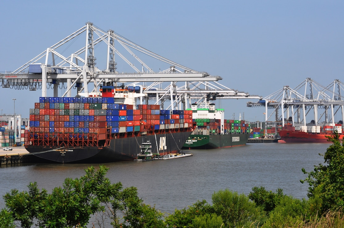 Savannah port, July 2010.
