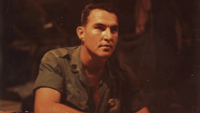 Walt Sides poses for a photo while on deployment in Vietnam. As a staff sergeant, he did two tours in Vietnam. He was the platoon sergeant of the first Marine Corps scout sniper platoon to be trained exclusively in combat during his first tour. (Photo courtesy of Walt Sides)