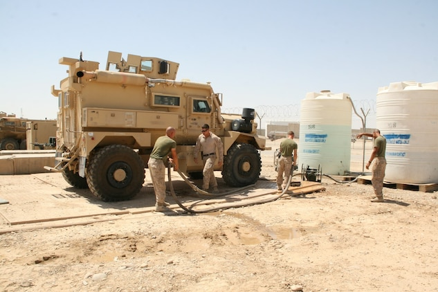 1 2 Motor Transport Marines Aid Camp Leatherneck While