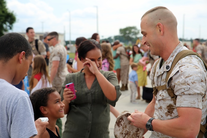 Marines with Marine All Weather Fighter Attack Squadron 224 returned to Marine Corps Air Station Beaufort July 11, after a six month deployment to the Western Pacificin support of the Unit Deployment Program. The UDP is designed to balance strategic capabilities in the Pacific theater to train with allies, respond to crises and promote security and cooperation across the region.