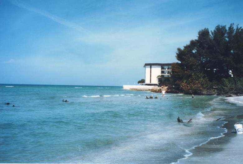 Beach erosion on Lido Key