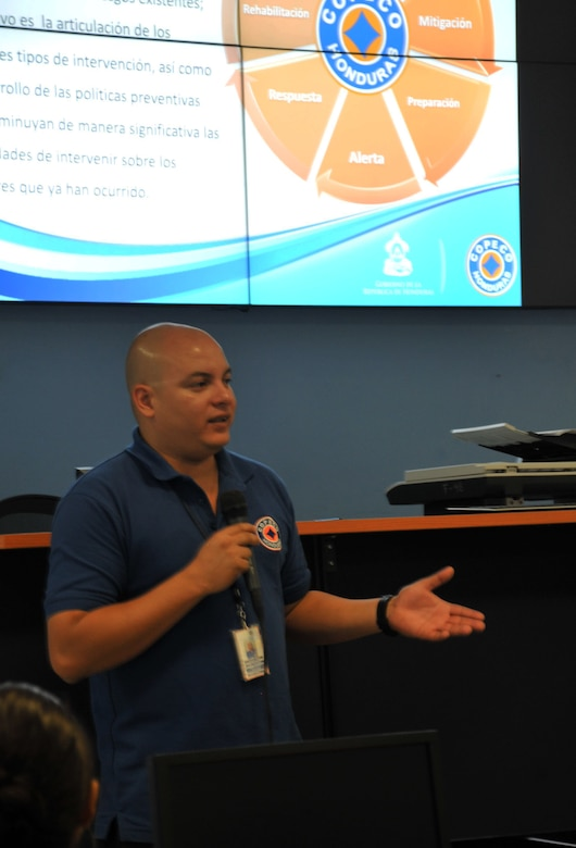 Joint Task Force-Bravo servicemembers conducted a visit to the Permanent Contingency Commission, the Honduran FEMA equivalent, in Tegucigalpa, Honduras to learn about disaster relief capabilities and be familiarized with the Honduran emergency management team.(Photos by Ana Fonseca)