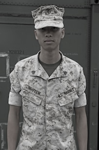 Sgt. Thanhtam Nguyen, micro miniature repair technician, Reparable Management Company, Combat Logistics Regiment 15, 1st Marine Logistics Group, originally from Ho Chi Minh, Vietnam, moved to Lancaster, Penn., at a young age. As an eight-year-old boy, Nguyen witnessed more gruesome things than any child ever should. Yet, somehow, Nguyen used his past experience to fuel his desire to always be there for his Marines. The stress-free work environment he provides coupled with his sense of humor allows his Marines to feel like they can go to him for anything.