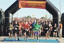 More than 1,200 people, many in unique costumes, turned out for the Marine Corps Detachment's 10k Volkslauf Saturday morning.