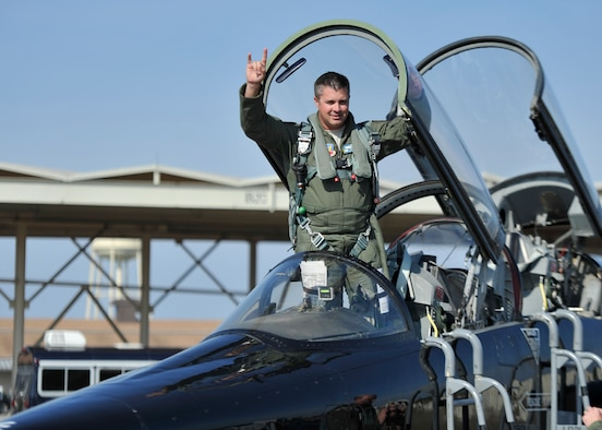 Colonel David E. Graff, 325th Fighter Wing commander, completed his final flight July 17 in a T-38 Talon. This flight was Graff's last as he relinquishes command of the 325th FW July 24 and retires July 25. (U.S. Air Force photo by Technical. Sgt. Javier Cruz)
